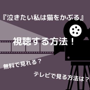 『泣きたい私は猫をかぶる』を見る方法を解説!無料で見れる?テレビで見る方法は?